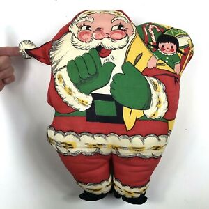 "Vintage Santa Claus Christmas Pillow Cut and Sew Hand Made  15"" Tall Americana"