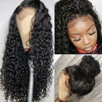 Lace Front Human Hair Wigs Water Wave Curly Brazilian Pre Plucked Frontal Wigs
