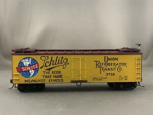 Train Miniature - Schlitz - 40' Wood Reefer + Wgt # 3750 w/Kadees