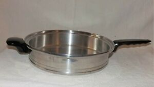 """Lifetime Custom Design Stainless T304CC Skillet Fry Pan 11"""" 5 Ply No Lid"""