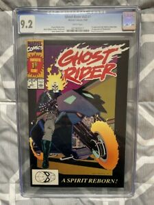GHOST RIDER #1 CGC 9.2 1ST APPEARANCE DEATHWATCH & DAN KETCH AS GHOST RIDER