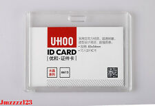 1 PC Clear Crystal Acrylic HORIZONTAL ID Card Holder ***AUSSIE SELLER***