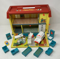 Vintage 1976 Fisher Price Play Family Children's Hospital