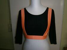 Shirt Gr. 40 schwarz/orange