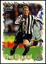 David Batty Newcastle United #19 Camiseta Futera 1999 Fútbol Tarjeta de Comercio (C345)