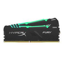 32GB Kingston Hyper X Fury RGB DDR4 3200MHz PC425600 CL16 Dual Memory Kit 2x16GB