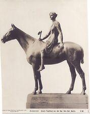 Photo de la statue Amazone de Louis Tuaillon Berlin Vintage Photomécanique
