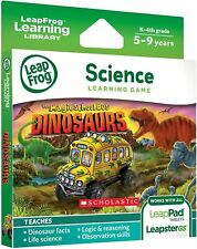 Leapfrog Leapster Explorer Leap Pad 2,3,GS,XDi Game Magic School Bus Dinosaurs