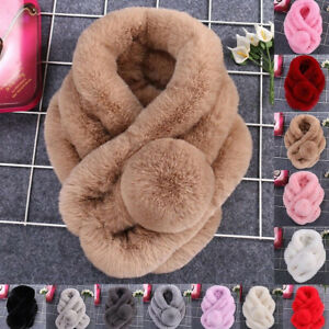 Handmade scarf 100% Rex Rabbit Fur soft & warm Winter scarf Xmas Gift Women Men