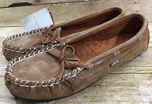 NWT Lamo Sabrina Moc II Women's Size 11 Chestnut Slip Up Comfort Moccasins Shoes