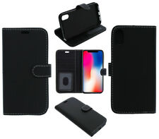 For Alcatel 5 Phone Case, Cover, Wallet, Card Pockets, PU Leather / Gel - Black