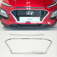 Radiator Grill Garnish Front Upper Chrome Cover Molding for Hyundai 2018 Kona
