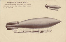 AVIATION AVION AEROSTATION dirigeable ville de paris surcouf-kapferer
