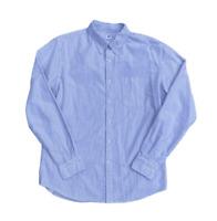 UNIQLO Men's Slim Fit Grey Striped Button Down Oxford Shirt | Large