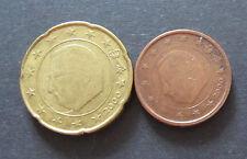 2 + 20 CENT EURO MONETA BELGIO memorizzare anno 2000, da in circolazione, pezzi da collezione!