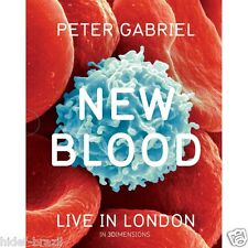 Blu-ray 3D Peter Gabriel New Blood Live in London w/ Slipcover -Brand New Sealed
