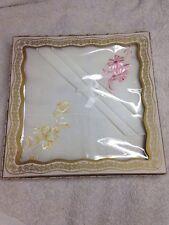 Antique Rare, 2 Embroidered Handkerchiefs 1920-1930's, Original Box!