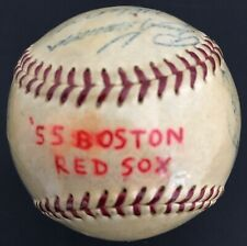 Boston Red Sox 1955 Team Signed Ball Harry Agganis/Ted Williams/24 Signatures