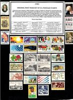 1982 ORIGINAL COMMEMORATIVE YEAR SET OF MINT -MNH- VINTAGE U.S. POSTAGE STAMPS