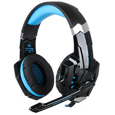 EACH G9000 LED Gaming Stereo Headphone LED 3.5mm USB Headset with Mic for Gamers