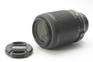Nikon Nikkor AF-S 55-200mm F/4-5.6 G VR IF ED DX Lens - With Front and Rear Caps