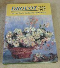 DROUOT 1986 1987  - L'ART ET LES ENCHERES EN FRANCE