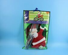 """30"""" Santa on a Bicycle Wind Spinner Made w/ Sun Tex Outdoor Materials#Z7B2"""