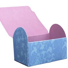 Blue Flower Gift Box x 4 wedding favours multi paper card craft storage
