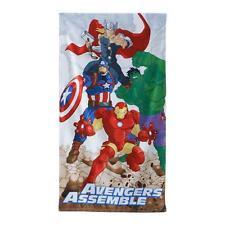 Officiel Marvel Avengers Velours Coton à Capuche Poncho Serviettes Garçons Cadeau 2-6 ans