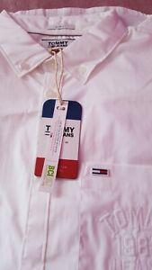 TOMMY HILFIGER Mens Slim Fit Shirt In Bright White Size XL BNWT