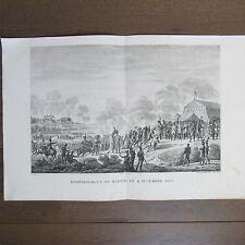 GRAVURE 1850 PAR VERNET NAPOLÉON 1808 BOMBARDEMENT DE MADRID