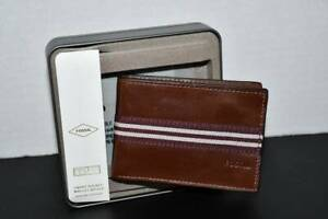 Fossil Jared Leather Front Pocket Bifold In Med Brown #ML3435210 NIB