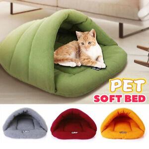 Soft Cat/Dog Kitten Cave Pet Bed House Sleeping Mat Pad Igloo Winter Warming New