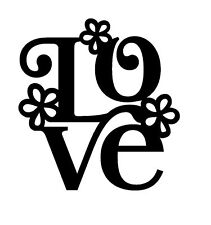 LOVE VINYL DECAL STICKER SUITABLE FOR FRAMES WOOD AND MORE 20 cm
