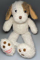 """Tweakie P Piper Plush Stuffed White Puppy Dog Soft Toy Brown Ears 12"""""""