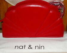 Nat & Nin Red Leather Shoulder or Crossbody Bag** ** Absolutely Beautiful**