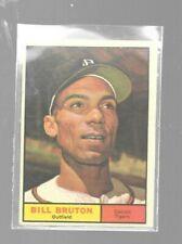 1961 Topps Bill Bruton 251 Detroit Tigers Baseball Cards