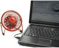 NEW - TechTools RF-0410R Retro Desktop Fan with USB Cord, RED - FREE SHIPPING