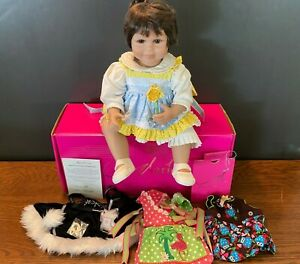 """Marie Osmond Doll 18"""" Baby Olive The Season 4 Outfits COA Necklace IOB"""