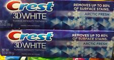 (2) Crest 3D White Stain Fighter Arctic Fresh Toothpaste 3.5 oz Free Ship