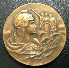 French Art Deco / Bronze Medal by Telier / 31 mm / M80