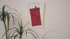 "Memoboard Memo-Board Notizhalter Holz mit Clip Aufschrift ""HOME"" Metallclip- RA-"