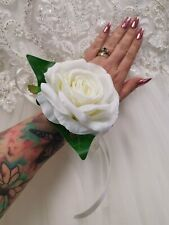 Flower Wrist  corsage Mother of the Bride / Guest  .. Ivory rose .. wedding Prom