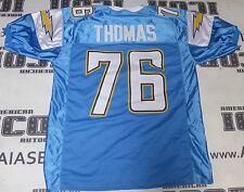 Cam Thomas Custom #76 San Diego Chargers Football Jersey Steelers UNC Tarheels
