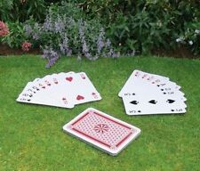 NEW GIANT A3 SIZE PLAYING CARDS OUTDOOR GAME FAMILY PARTY SCHOOL FULL DECK 37CM