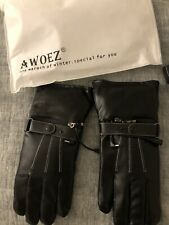 New listing Awoez Heated gloves Men's Very Soft Electric Thermal Gloves Rechargeable Batteey