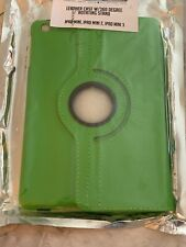 apple ipad mini 1, 2, 3 Leather Case With 360 Degree Rotating Stand Green