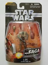 STAR WARS FIGURINE C-3PO WITH BATTLE DROID HEAD N°17 SÉRIE SAGA COLLECTION  NEUF