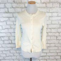 Banana Republic Women's Pima Cotton Cashmere Cardigan Sweater Size XS Extra Smal