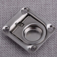 Silver Marine Boat Hatch Latch Flush Pull Ring Lift Handle Square